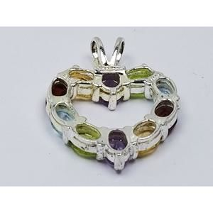 Women's Sterling Silver 925 Charm with Multi-Color